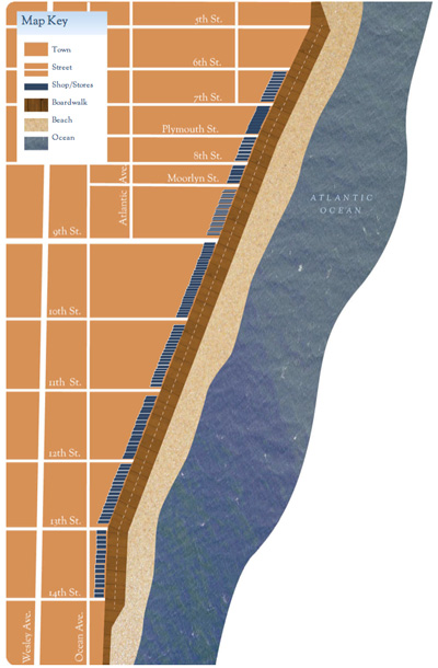 ocean city new jersey boardwalk map at island realty group
